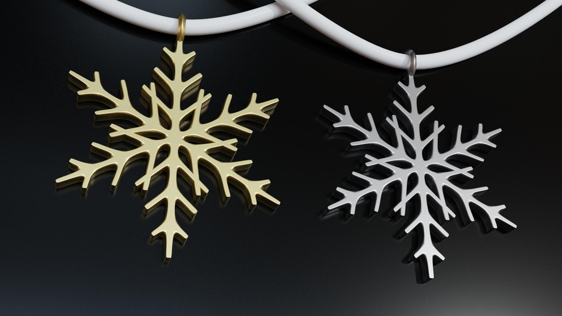 RENDER.jpg Télécharger fichier STL gratuit Pendentif flocon de neige Modèle d'impression 3D de l'arbre de Noël • Objet imprimable en 3D, ryanmaicol