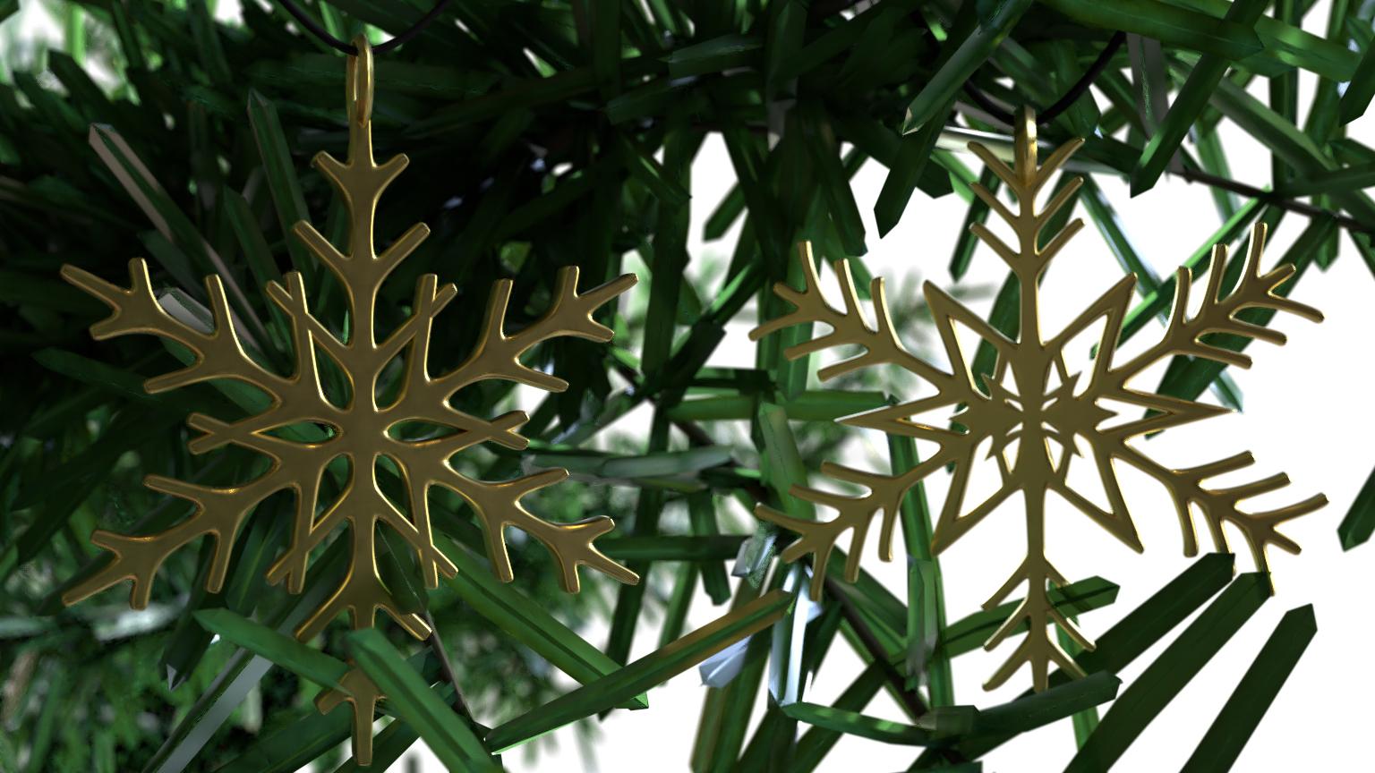 pines .jpg Télécharger fichier STL gratuit Pendentif flocon de neige Modèle d'impression 3D de l'arbre de Noël • Objet imprimable en 3D, ryanmaicol
