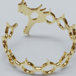 Download 3D print files Bracelet DRAGON 3D print model (Seven Deadly Sins), ryanmaicol