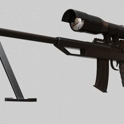 Télécharger objet 3D Sniper Rifle Pièces détachées Modèle d'impression 3D, ryanmaicol