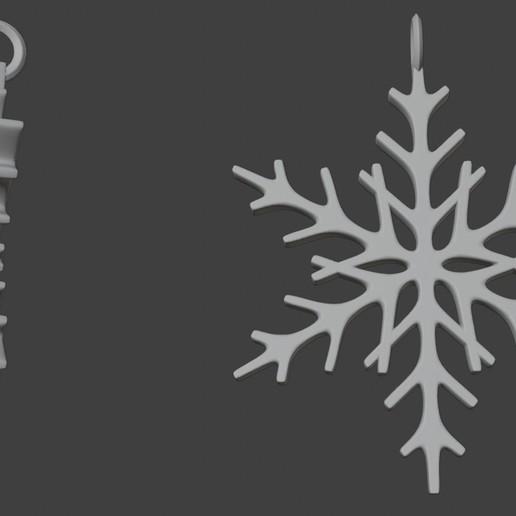 silid.jpg Télécharger fichier STL gratuit Pendentif flocon de neige Modèle d'impression 3D de l'arbre de Noël • Objet imprimable en 3D, ryanmaicol