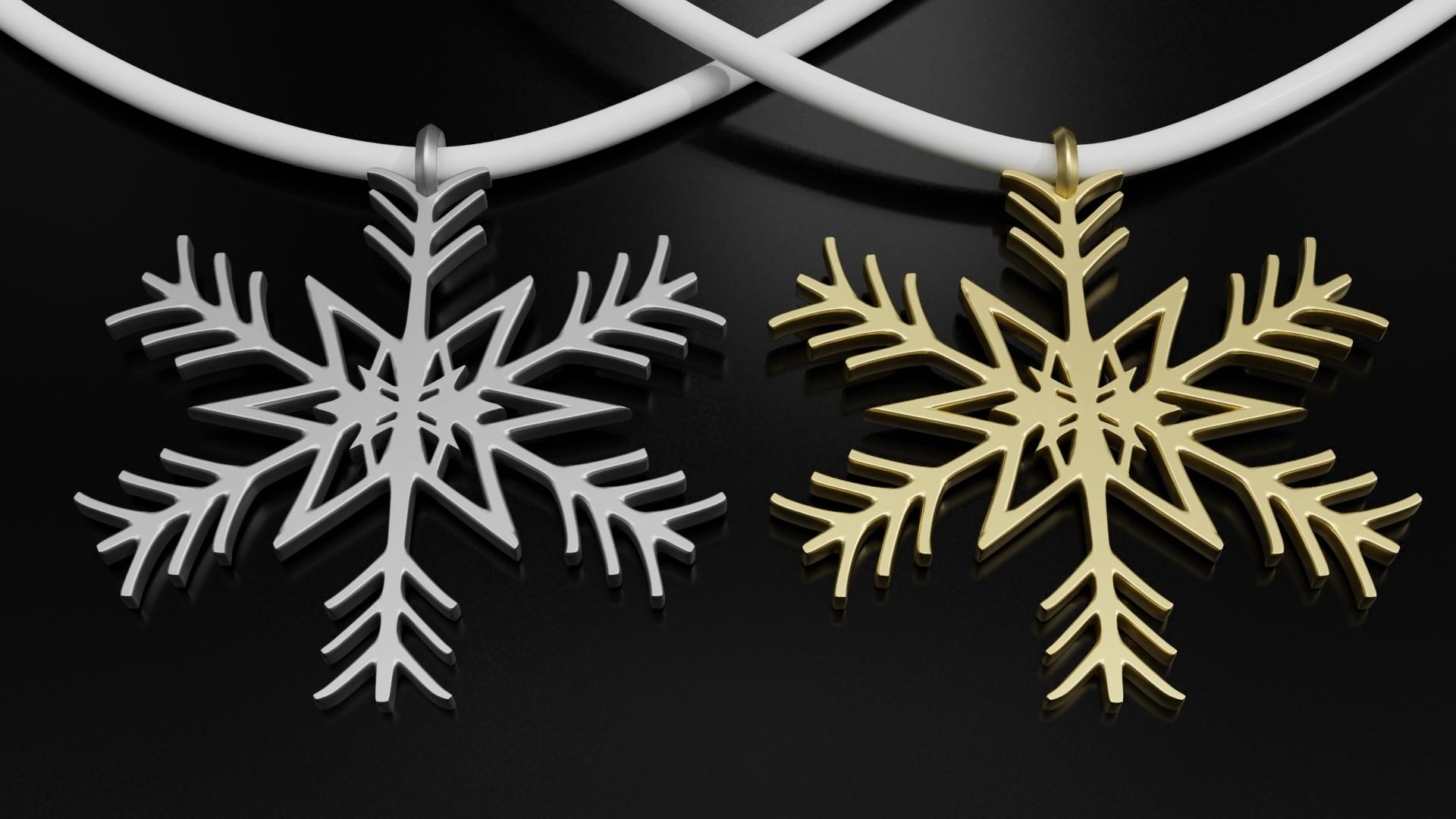 RENDER1.jpg Télécharger fichier STL gratuit Pendentif flocon de neige Modèle d'impression 3D de l'arbre de Noël • Objet imprimable en 3D, ryanmaicol