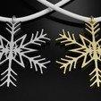 Download free STL file Snowflake Pendant Christmas tree 3D print model • 3D printable model, ryanmaicol