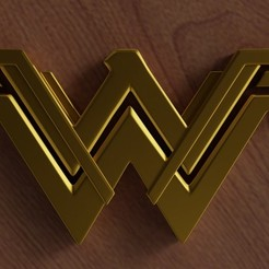Download 3D printing templates Wonder Woman logo, ryanmaicol