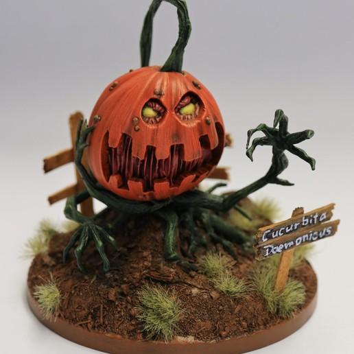 Download free 3D printing templates Deamon Pumpkin, david_ge