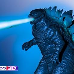 Download free 3D printing templates GODZILLA, MODELADO_3D