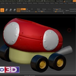 Download free 3D printing models MARIO KART MUSHROOM, MODELADO_3D