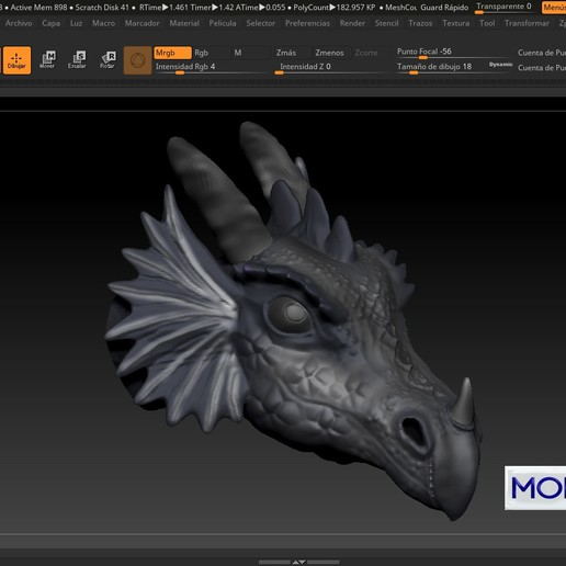 Download 3D printer designs DRAGON, ptiradojijon