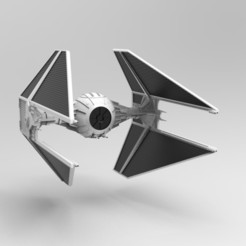 1.jpg Download STL file Nurbs Tie Interceptor • 3D printable model, uzzy3d