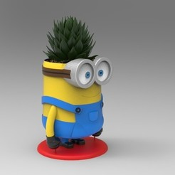 Download 3D printer designs Minion Flower Pot for 3D print, magician_uzzy