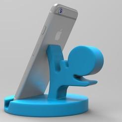 1.jpg Download OBJ file Nurbs Phone Holder 3D Print • 3D printer design, uzzy3d
