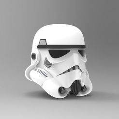 Download 3D printing templates Nurbs Classic Stormtrooper Helmet 3D model for 3D Print, uzzy3d