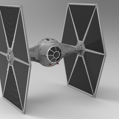 Download 3D printing templates Star Wars Tie Fighter with Interior 3D model, uzzy3d