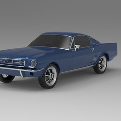 1.jpg Download OBJ file 1967 Ford Mustang  Nurbs and 3D Printable  • 3D printable object, uzzy3d