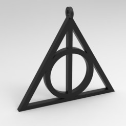 Download 3D model Deathly Hallows Pendant for 3D Print, uzzy3d