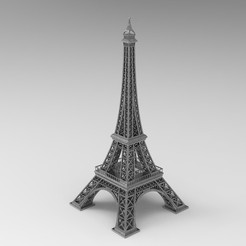 Download STL files Eiffel Tower for 3D Print, uzzy3d