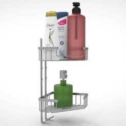 1.jpg Télécharger fichier STL NURBS BATHROOM SHOWER SHELVES modèle 3D • Plan à imprimer en 3D, uzzy3d
