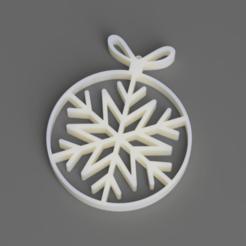 Télécharger fichier STL Ornement de flocon de neige de sapin de Noël • Design à imprimer en 3D, pad-lee