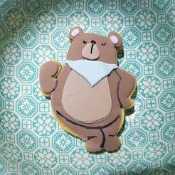 Download 3D printer designs Bear Cookie Cutter, pad-lee