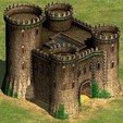 Download 3D printing templates Byzantine castle - Age of Empires II, 3vprint