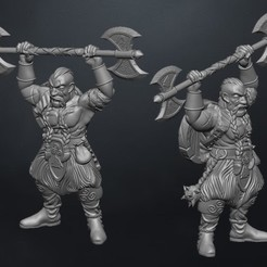 enano 1.jpg Download STL file dwarf warrior dwarf • 3D printing model, claudiocuellodi