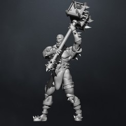 Download 3D printing designs orc in a rage, claudiocuellodi