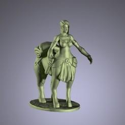 Télécharger objet 3D centaure femme centaure famale centaure, claudiocuellodi