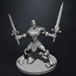 Descargar modelo 3D Barbarian carttoon D&D miniature , claudiocuellodi