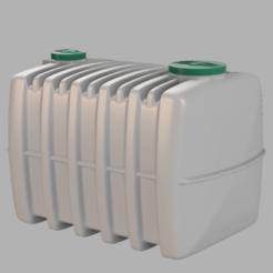 reservoir toutes eaux 1.png Télécharger fichier STL fosse toutes eaux 3m3 1/14 • Objet à imprimer en 3D, bricodx