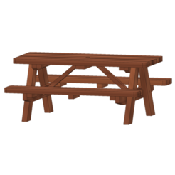 Impresiones 3D gratis mesa de picnic 1:14, bricodx