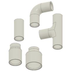 Descargar diseños 3D gratis Juego de acoplamiento de tubería de 9 mm. Ants51, bricodx