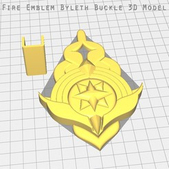 Download STL file FIRE EMBLEM: THREE HOUSES - BYLETH BADGE, BillythebrickCosplay