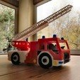 Imprimir en 3D gratis juguete de camión de bomberos, michbadix