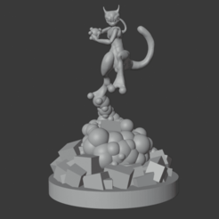 Download free 3D printer templates MewTwo Pokémon, Minos