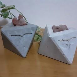 Download STL files polyhedral pot mold, reflexpnt