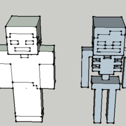 Download free 3D printer designs steve and a minecraft skeleton, 12345678gabi0