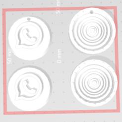 Captura 4.PNG Télécharger fichier STL Porte-clés et onglet assemblables de WhatsApp • Design imprimable en 3D, 12345678gabi0