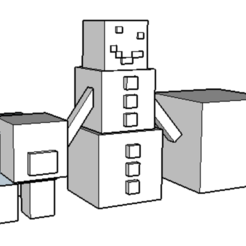 Download free 3D printer model pig and snow golem, 12345678gabi0