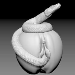 Descargar STL Manzana, Coño y Serpiente, Cool3dprintables