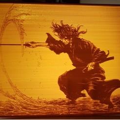 Download free 3D printing templates Musashi lithophane, weiller
