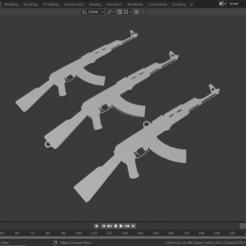 Download 3D printer templates Ak 47 keychain, almazansanti