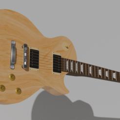 Télécharger plan imprimante 3D Gibson Les Paul Guitar, almazansanti