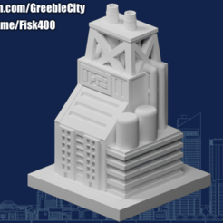 20200919.png Download free STL file GreebleCity: Processing Plant • Design to 3D print, Fisk400