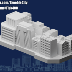 20201020.png Download free STL file GreebleCity Megatower 16: Rooftop Neighborhood II • Template to 3D print, Fisk400