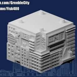 20201202.jpg Télécharger fichier STL gratuit GreebleCity Cyberpunk : Un autre module de la tour • Design imprimable en 3D, Fisk400
