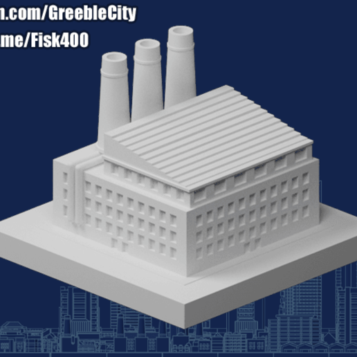 Download free STL file GreebleCity: Cement Factory • 3D printing object, Fisk400