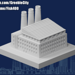 20200915.png Download free STL file GreebleCity: Cement Factory • 3D printing object, Fisk400