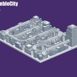 Download free STL GreebleCity Set 06: Road Map, Fisk400