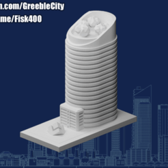 Download free 3D printing templates GreebleCity: Fancy Office (Join my Patreon), Fisk400