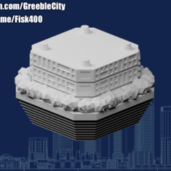 Download free 3D printer designs GreebleCity Cyberpunk: Hanging Gardens (Did I mention I have a Patreon?), Fisk400